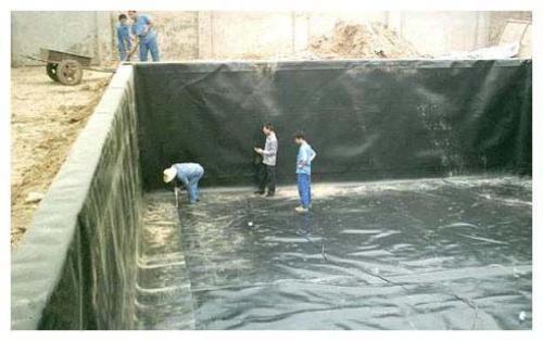 鱼塘HDPE防渗膜的铺设方法