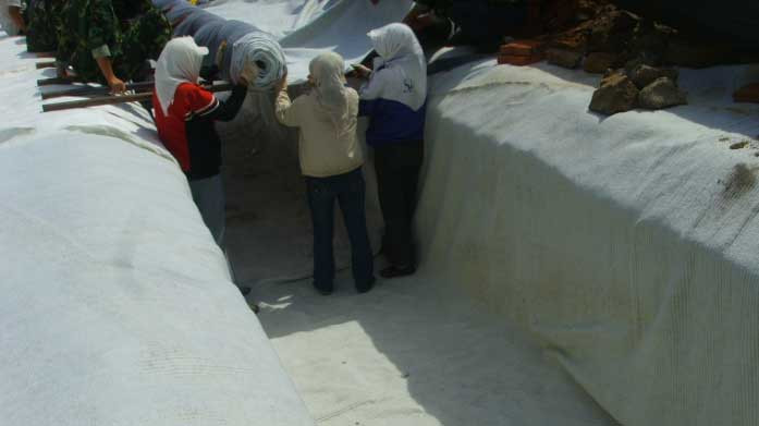 膨润土防水毯的用途和输运注意问题